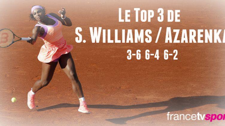 La numéro un mondial, Serena Williams, est parvenue à inverser la tendance dans une rencontre qu'elle avait clairement mal entamée face à Victoria Azarenka.