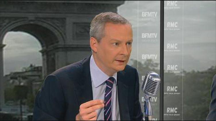 Bruno Le Maire, en charge du projet présidentiel de l'UMP. (RMC-BFM TV)