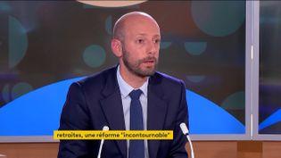 Le délégué général La République en marche(LREM) et député de Paris, Stanislas Guerini,jeudi 21 octobre sur franceinfo (FRANCEINFO)