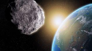 Illustration d'un astéroïde proche de la Terre (GETTY IMAGES)