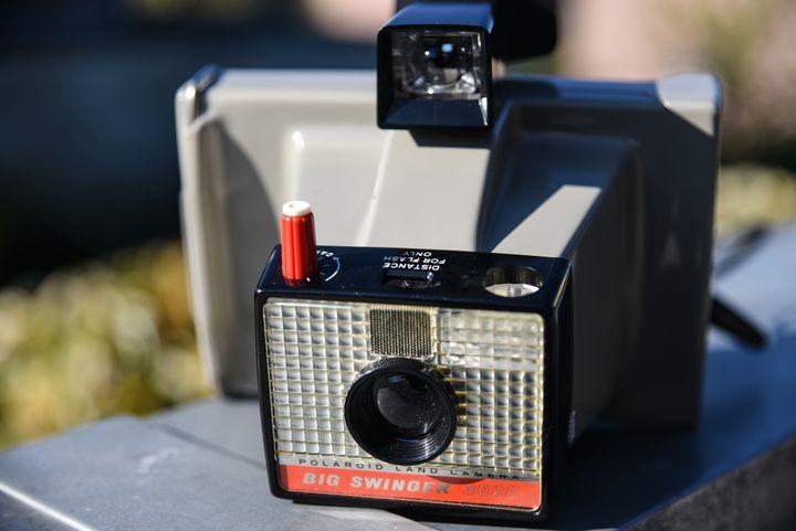 Appareil photo instantané de marque Polaroïd datant des années 70  (WASSILIOS ASWESTOPOULOS / NURPHOTO)