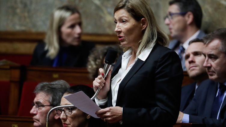 Natalia Pouzyreff, députée LREM, à l'Assemblée nationale, le 13 novembre 2018. (THOMAS SAMSON / AFP)