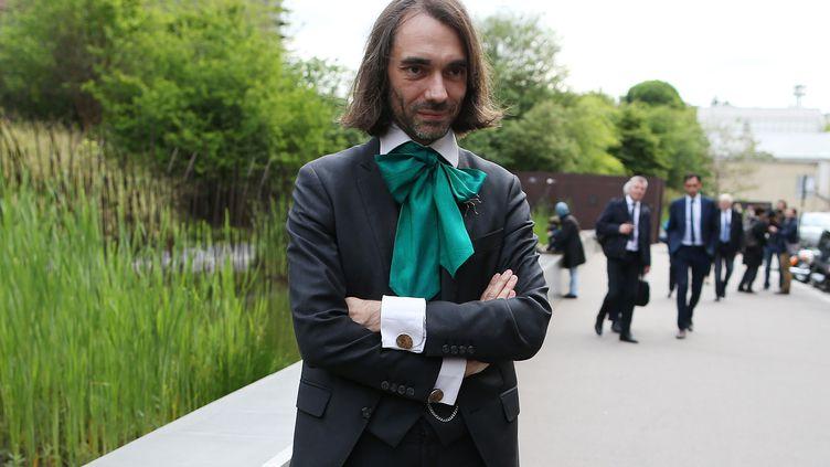 Cédric Villani, à Paris, le 13 mai 2017. (CHARLY TRIBALLEAU / AFP)