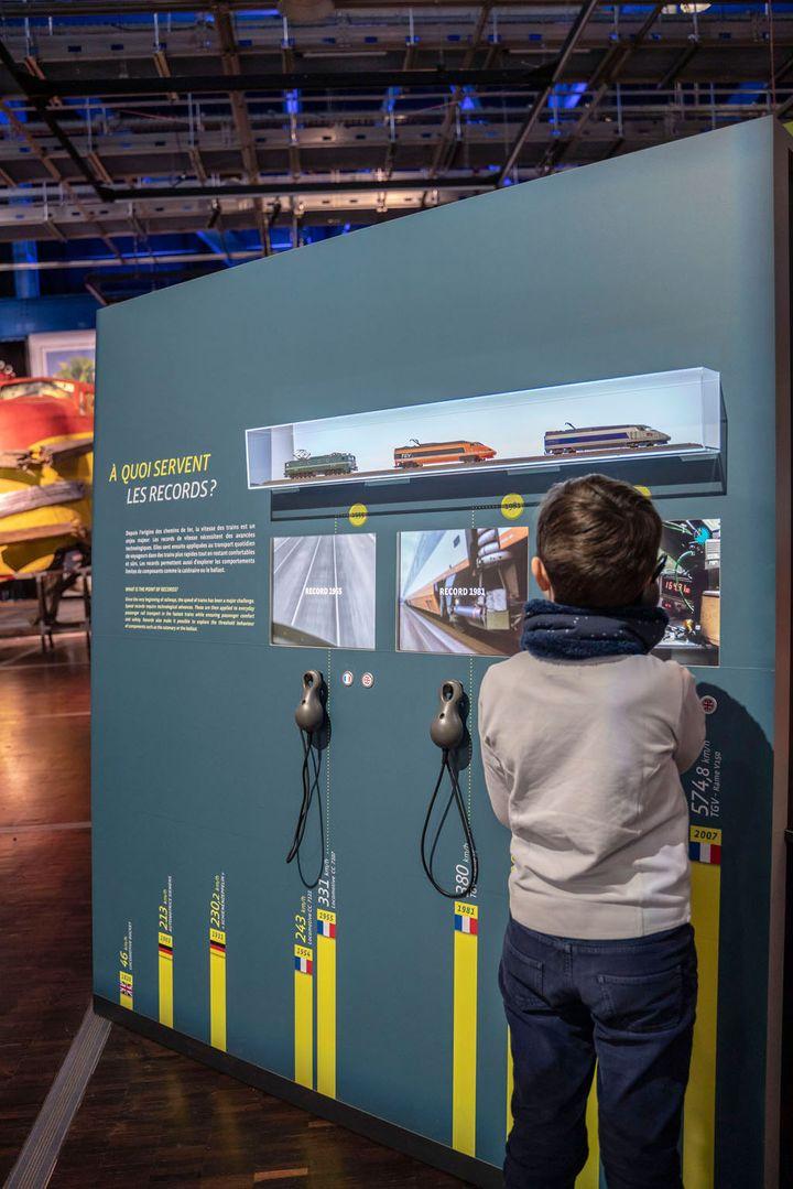 Exposition Grande vitesse ferrovaire à la Cité des sciences à Paris. (Universcience. Photo : E.Laurent)