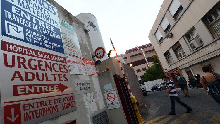 L'hôpital Saint-Joseph, à Marseille, où un nourrisson a été enlevé dans la nuit du 27 au 28 août 2012. (GERARD JULIEN / AFP)