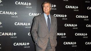 Le président du conseil de surveillance du groupe Canal+, Vincent Bolloré, arrive à un dîner du groupe, le 4 février 2016, à Paris. (NIVIERE/SIPA)