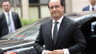 Le président de la République, François Hollande, le 12 juillet 2015 à Bruxelles (Belgique). (THIERRY CHARLIER / AFP)