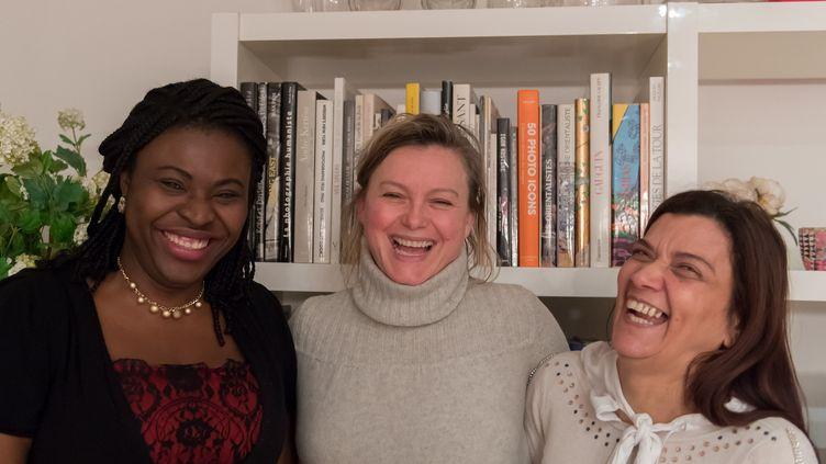 Gabrielle, Marie-Laure et Nadia. (REGIS PICART / FRANCEINFO)