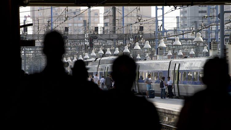 La gare Montparnasse de Paris, le 3 juillet 2015, lors des premiers départs en vacances de l'été. (JOEL SAGET / AFP)