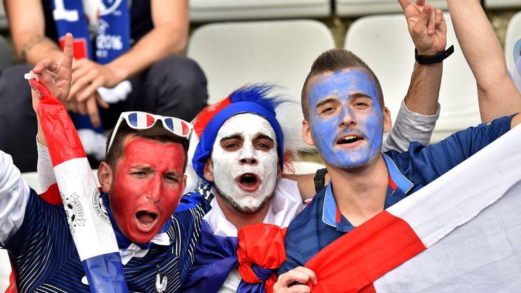 Des supporters de l'équipe de France, le 30 mai 2016 à Nantes (Loire-Atlantique). (LOIC VENANCE / AFP)