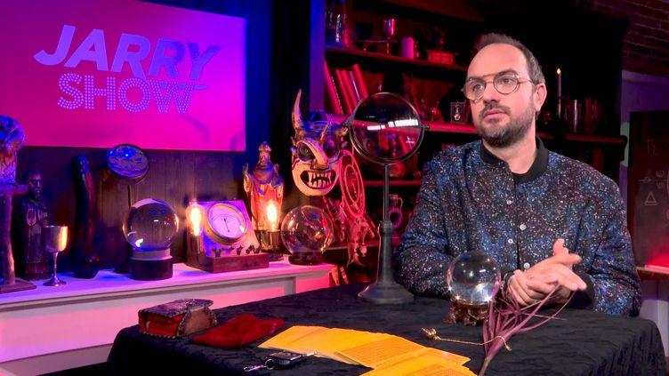 Jarry dans le studio du Jarry Show. (France 3 Paris-Ile-de-France / G. Bezou)