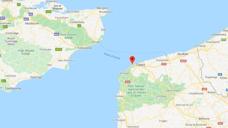 Sangatte (Pas-de-Calais). (CAPTURE ECRAN GOOGLE MAPS)