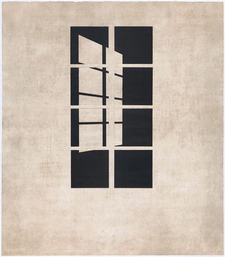 Markus Raetz, Tag oder Narcht (Jour ou nuit), 1998, Graphische Sammlung der ETH, Zürich  (2013, ProLitteris Zurich)