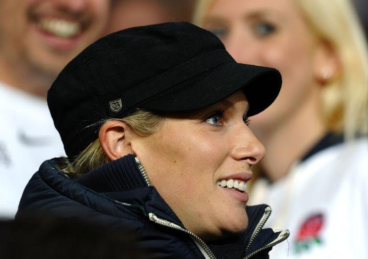 Zara Phillips assiste à un match de rugby entre la Roumanie et l'Angleterre, où joue son mariMike Tindall, le 24 septembre à Dunedin (Nouvelle-Zélande). (PAUL ELLIS / AFP)
