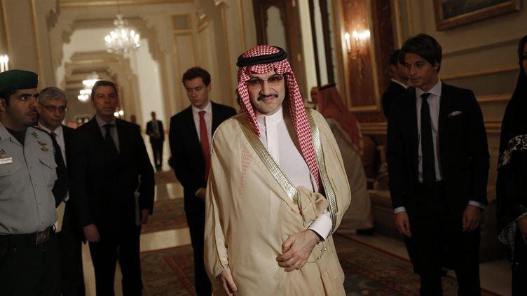 Le prince Al-Walid ben Talal, qui n'occupe aucune fonction politique, est connu pour son franc-parler (CHRISTOPHE ENA / POOL / MAXPPP)