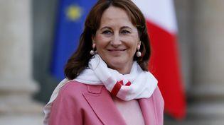 La ministre de l'Environnement, Ségolène Royal, dans la cour de l'Elysée à Paris le 10 décembre 2016. (THOMAS SAMSON / AFP)