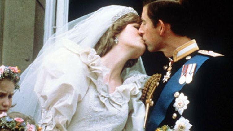 LE baiser, au mariage du prince Charles et de Lady Diana, le 29 juillet 1981 (AFP)