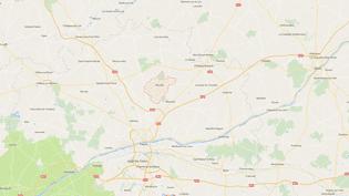 Carte de localisation deNouzilly, enIndre-et-Loire. (GOOGLEMAPS)