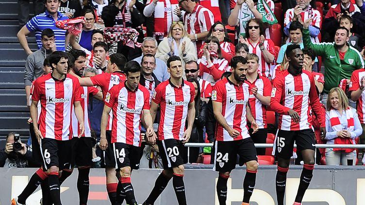 Les joueurs de l'Athletic Bilbao (ANDER GILLENEA / AFP)