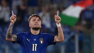 Ciro Immobile a inscrit le troisième but italien face à la Suisse. (ANDREAS SOLARO / POOL)