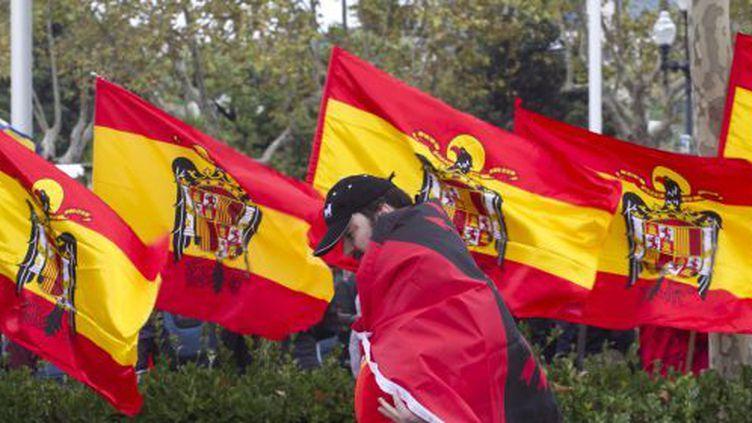 Célébration du «jour de l'Hispanité» à Montjuic, le 12 octobre 2012. (El Païs/ Carlos Ribas)