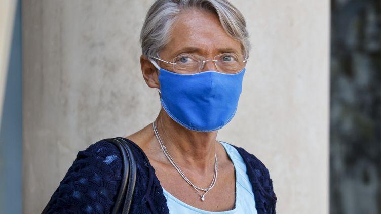La ministre du Travail, Elisabeth Borne, quitte l'Elysée, le 16 septembre 2020. (LUDOVIC MARIN / AFP)
