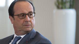 François Hollande à Hanovre (Allemagne), le 25 avril 2016. (JIM WATSON / AFP)