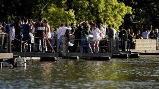 """Lors de l'édition spéciale du festival """"Paradise City"""" à Perk (Belgique), près de Bruxelles, le 2 juillet 2020. (KENZO TRIBOUILLARD / AFP)"""