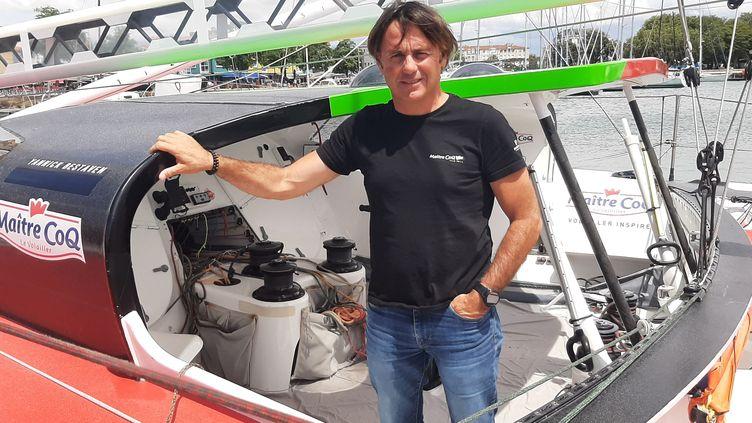 Yannick Bestaven, navigateur. Vainqueur du Vendée Globe 2020. (SEBASTIEN BAER / RADIO FRANCE)