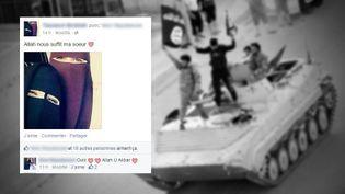 En quelques clics sur Facebook, Sara s'est retrouvée dans un réseau parallèle, entrerappels islamiques et conseils pour rejoindre les jihadistes de l'EI. (REUTERS / FRANCETV INFO )