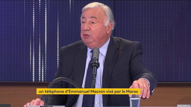 Gérard Larcher sur franceinfo mercredi 21 juillet. (FRANCEINFO / RADIOFRANCE)