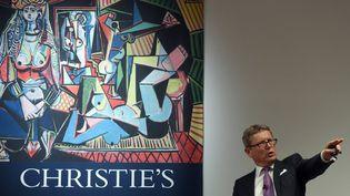 """Le 11 mai 2015 au Christie's à New York pendant les enchères des """"Femmes d'Alger""""  (Thomas A. Clary / AFP)"""