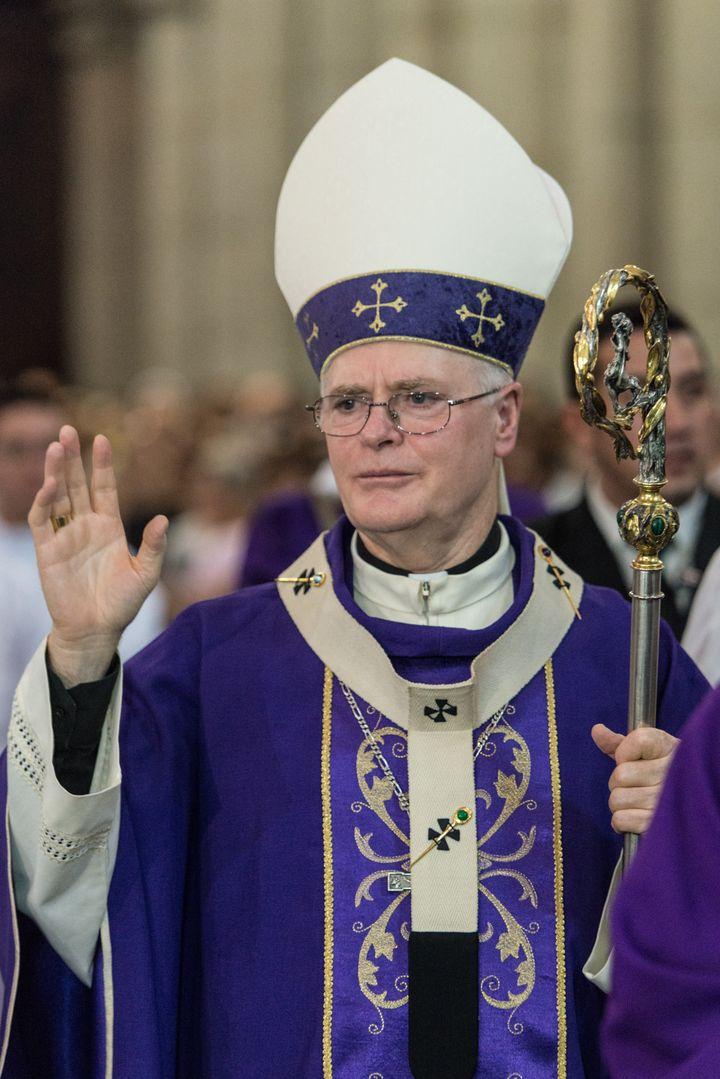 Le cardinal brésilien Odilo Pedro Scherer lors d'une messe à Sao Paulo (Brésil) le 13 février 2013. (YASUYOSHI CHIBA / AFP)