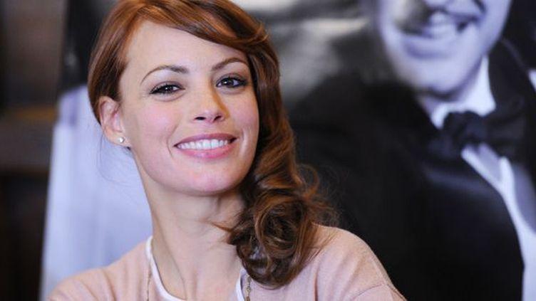 Bérénice Bejo, le 24 janvier 2012, lors d'une conférence de presse à Paris  (MIGUEL MEDINA/AFP)