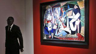 """""""Les Femmes d'Alger (Version O)"""", de Pablo Picasso, a été adjugé 179,36 millions de dollars chez Christie's à New York, le lundi 11 mai. (KATHY WILLENS / AP / SIPA)"""