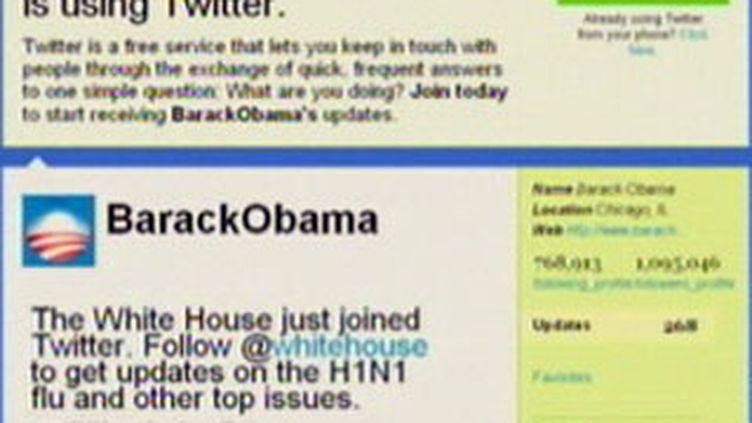 Le compte Twitter du président américain Barack Obama