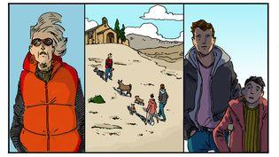 """Chapitre 15, """"La dame en rouge"""", illustration de Luc Desportes (LUC DESPORTES)"""
