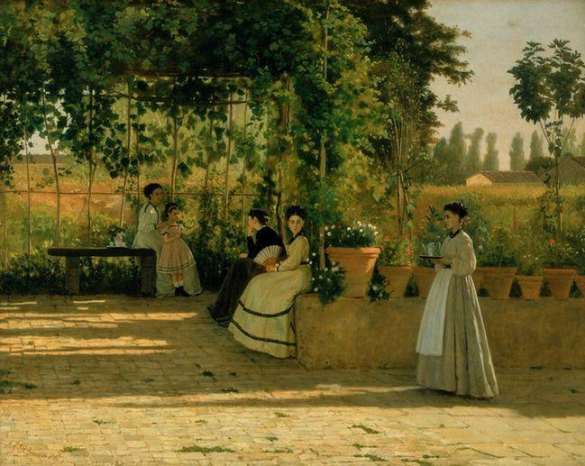 La Pergola,Lega Silvestro -détail, 1868, huile sur toile, 75 x 93,5 cm, Milan, Pinacoteca di Brera  (Archives Alinari, Florence/Dist. RMN, Goerges Tatge)