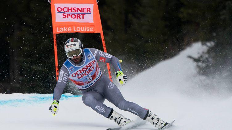 Adrien Théaux lors de la descente d'entraînement à Lake Louise