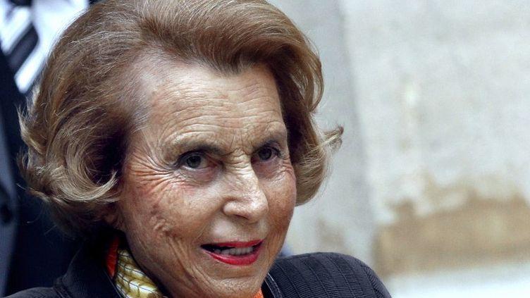 Liliane Bettencourt à Paris, le 12 octobre 2011. (FRANCOIS GUILLOT / AFP)