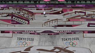 Le skatepark Ariake Urban de Tokyo, au Japon. (JEFF PACHOUD / AFP)