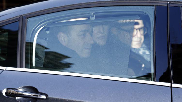 L'ancien président de l'UMP, Jean-François Copé, arrive au pôle financier du tribunal de grande instance de Paris, le 3 février 2015. (KENZO TRIBOUILLARD / AFP)