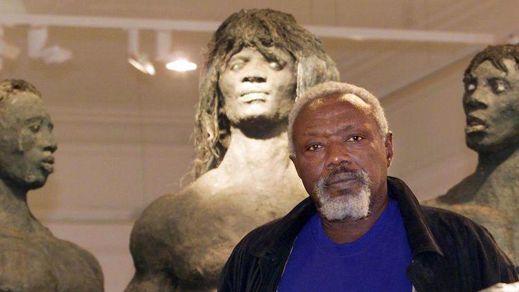 Ousmane Sow en 1999 à Lyon  (ERIC CABANIS / AFP)