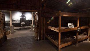 Photo non datée d'un baraquement d'Auschwitz-Birkenau exposé au musée de l'Holocauste, à Washington  (AP / Sipa)