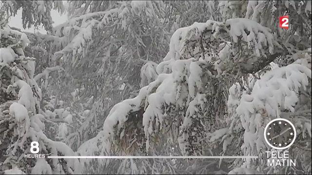 La neige fait son retour dans les Alpes