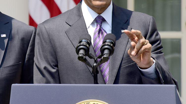 Le président des Etats-Unis Barack Obama, le 1er juillet 2015, à la Maison Blanche à Washington. (RON SACHS / DPA)