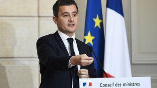 Le ministre de l'Action et des Comptes publics Gérald Darmanin lors d'une conférence de presse, le 27 novembre 2017 à l'Elysée, à Paris. (BERTRAND GUAY / AFP)