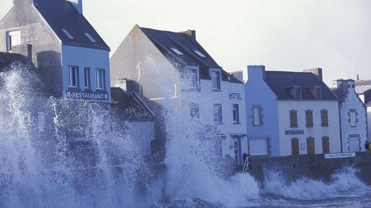 L'île de Sein (Finistère) lors d'un coup de vent. (MONTARGES-ANA / ONLY FRANCE)