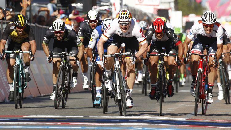 André Greipel a remporté la deuxième étape du Giro.  (LUK BENIES / AFP)