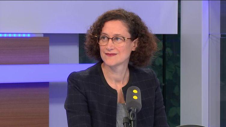 Emmanuelle Wargon, secrétaire d'Etat à la Transition écologique, était l'invitée de franceinfo samedi 5 octobre. (FRANCEINFO / RADIOFRANCE)